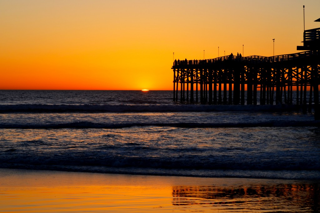 Sunset @ crystal pier